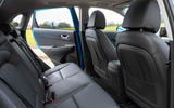 14 Hyundai Kona Electric 2021 UK first drive review rear seats