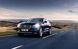 14 Jaguar F Pace P400e 2021 uk first drive review on road front