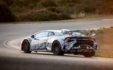 Lamborghini Huracan STO 2020 first drive review - cornering rear