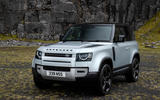 14 Land Rover Defender 90 D250 2021 UK first drive review static front