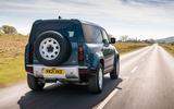 14 Land Rover Defender Hard Top Commercial 110 UK FD on road rear