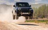 14 Land Rover Defender V8 2021 UK FD jump