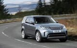 14 Land Rover Discovery D300 2021 UK first drive review cornering front