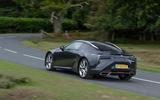 14 Lexus LC500 2021 UK FD on road rear