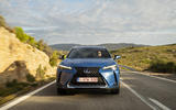 Lexus UX300e 2020 UK first drive review - on the road nose