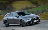 Mercedes-AMG CLA 45 S Shooting Brake 2020 UK first drive review - on the road front