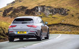 Mercedes-AMG CLA 35 Shooting Brake 2020 UK first drive review - on the road rear
