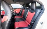 Mercedes-Benz A-Class A180D rear seats