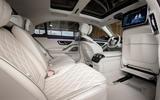Mercedes-Benz S Class S580e 2020 first drive review - rear seats