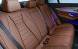 Mercedes-Benz E-Class E300de 2019 UK first drive review - rear seats
