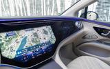 14 Mercedes EQS580 2021 FD touchscreen