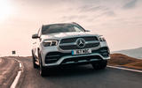 Mercedes-Benz GLE 400d 2019 UK first drive review - on the road nose
