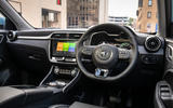 MG ZS EV 2019 UK first drive review - steering wheel