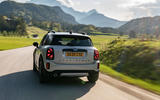 Mini Countryman Cooper S E All4 2020 first drive review - on the road rear