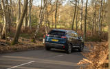 Peugeot 3008 Hybrid 2021 UK review - on the road rear