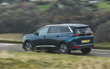 Peugeot 5008 2020 UK First Drive review - on the road rear