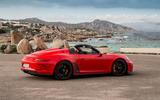 Porsche 911 Speedster 2019 first drive review - static rear