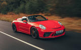 Porsche 911 Speedster 2019 UK first drive review - on the road front