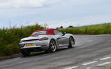 14 Porsche Boxster 25 years edition 2021 uk fd on road rear