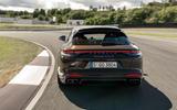 Porsche Panamera Turbo S Sport Turismo 2020 first drive review - cornering rear