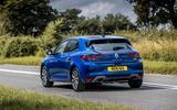 14 Renault Megane E Tech phev 2021 UK FD cornering rear