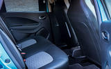 Renault Zoe 2020 UK first drive review - rear seats