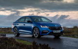 Skoda Octavia vRS TDI 2021 UK first drive review - static front