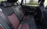 14 Toyota RAV4 PHEV 2021 UK first drive review rear seats