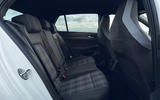 14 Volkswagen Golf GTD 2021 UK first drive review rear seats