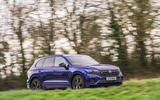 14 Volkswagen Touareg R eHybrid 2021 UK first drive review on road front