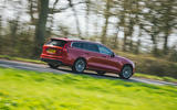 14 Volvo V60 B3 Momentum 2021 UK first drive review on road rear