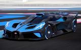 Bugatti Bolide on track front