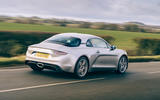 15 Alpine A110 Legende GT 2021 UK first drive review on road rear