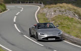 Aston Martin Vantage Roadster 2020 UK first drive review - cornering front
