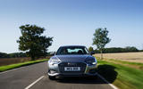15 Audi A6 TFSIe 2021 UK first drive review on the road nose