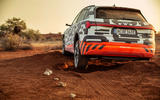 Audi e-Tron 2019 prototype first drive review - offroad rear