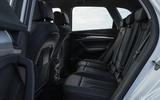 Audi Q5 40 TDI Sport 2020 UK first drive review - rear seats