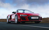 Audi R8 Spyder 2019 UK first drive review - on the road front
