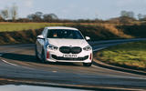 15 BMW 1 Series 128ti 2021 UK first drive review on road front