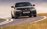 BMW 420i Coupe 2020 UK first drive review - cornering front