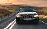BMW 5 Series M550i 2020 UK first drive - on the road nose