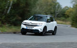 Citroen C5 Aircross Hybrid 2020 UK first drive review - cornering front