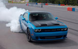 Dodge Challenger Hellcat Redeye Widebody 2018 first drive review - burnout front