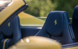 Ferrari F8 Tributo Spider 2020 UK first drive review - seat headrests