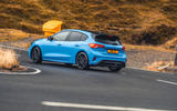 15 Ford Focus ST Edition 2021 UK FD on road rear