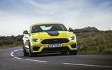 15 Ford Mustang Mach 1 2021 UK first drive review cornering front