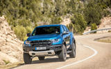 Ford Ranger Raptor 2019 first drive review - cornering front