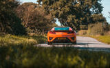 Honda NSX 2019 UK first drive review - on the road rear
