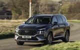 15 Hyundai Santa fe 2021 UK first drive review on road front