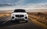 15 Jaguar E Pace P300e 2021 uk first drive review on road nose